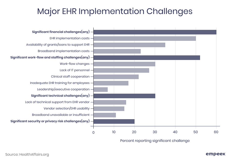 EHR implementation challenges