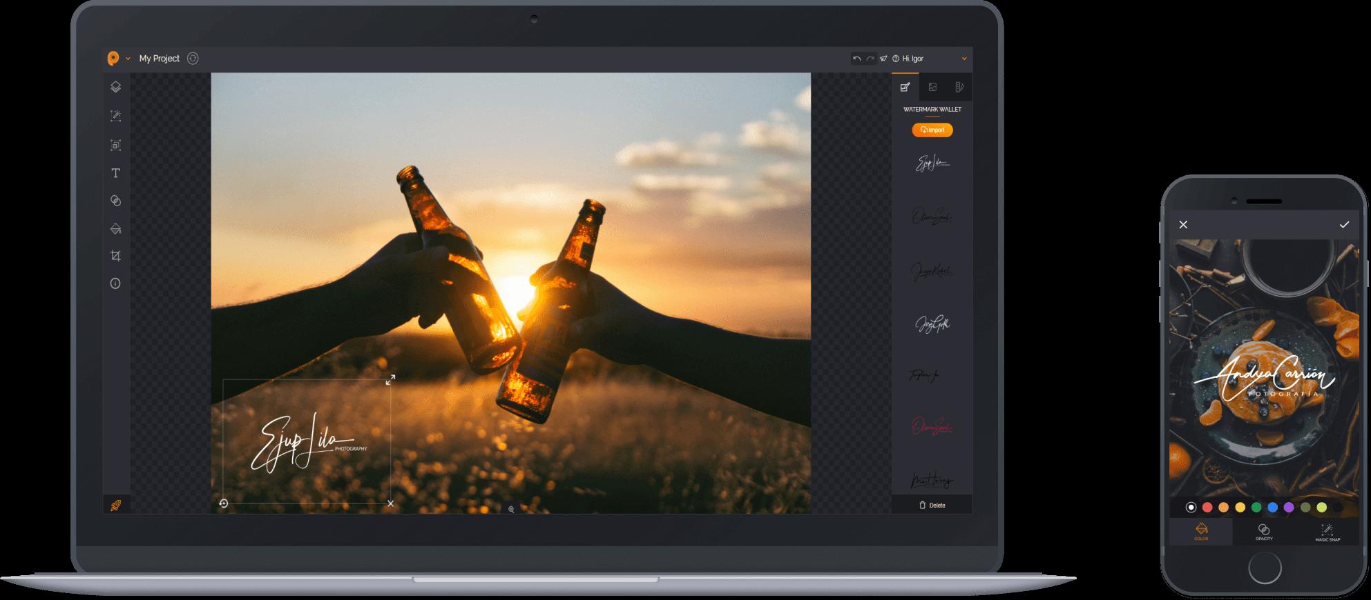 Photo Watermarking App